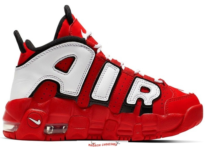 Nike Air More Uptempo (PS) Rouge Noir Blanc (CD9403-600) Chaussure de Basket