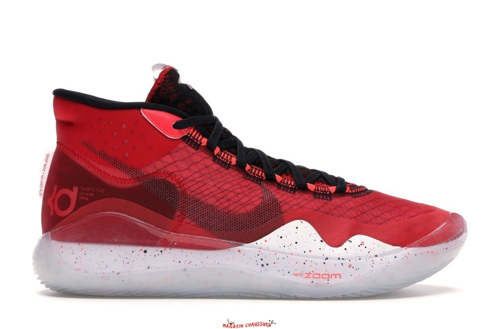 Nike Kd XII 12 - Homme Rouge (AR4229-600/AR4230-600) Chaussure de Basket