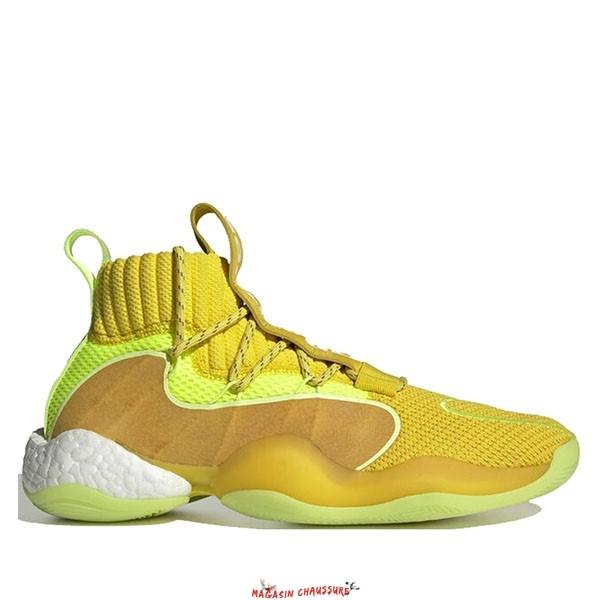 "Adidas Crazy Byw Prd Pharrell - Homme ""Now Is Her Time"" Jaune (EG7724) Chaussure de Basket"