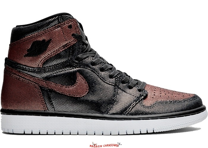 "Air Jordan 1 - Femme High Retro ""Fearless"" Métallique Rose Or (CU6690-006) Chaussure de Basket"