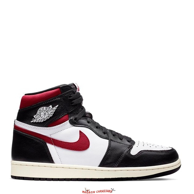 "Air Jordan 1 - Homme High Og ""Black Gym Red"" Noir Rouge (555088-061) Chaussure de Basket"