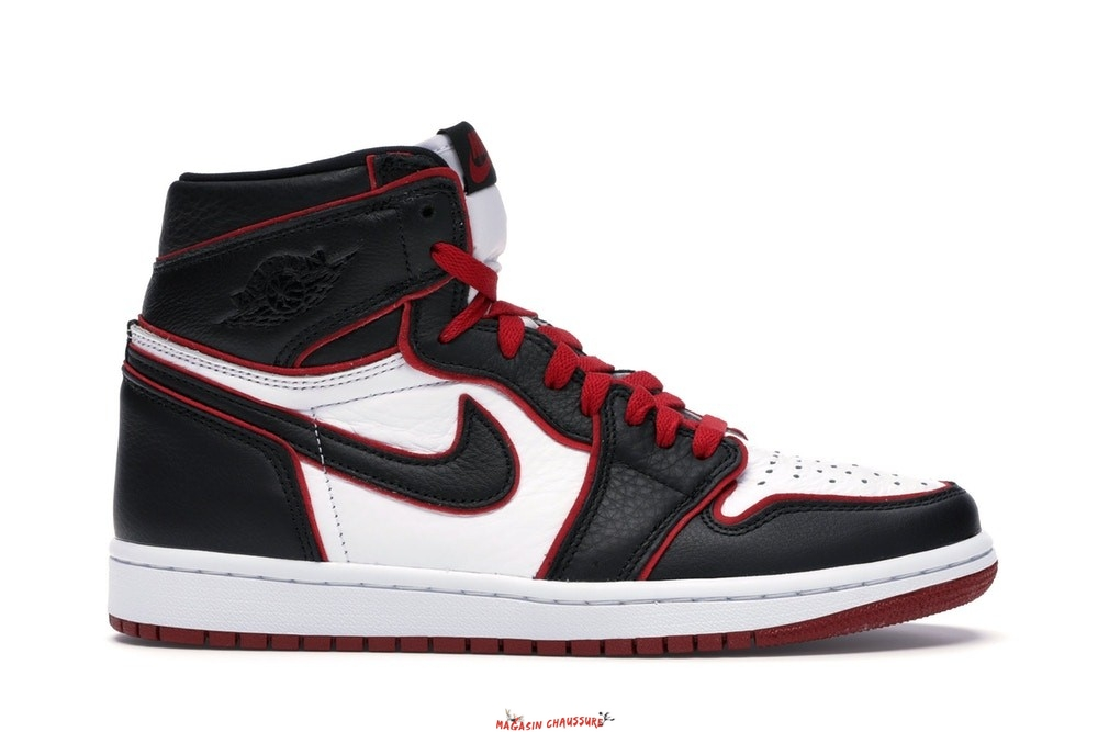 "Air Jordan 1 - Homme High Retro ""Bloodline"" Noir (555088-062) Chaussure de Basket"