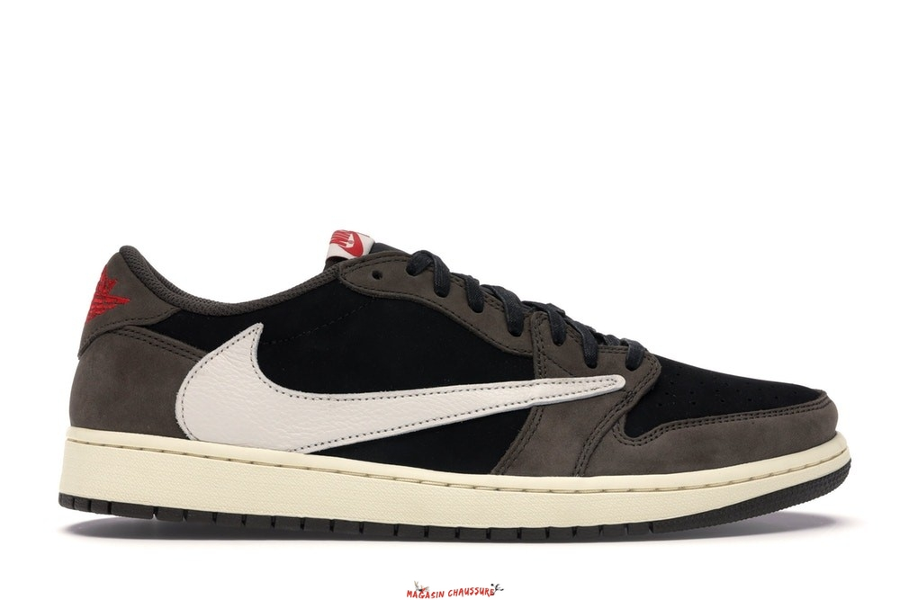 "Air Jordan 1 - Homme Low Retro Og Sp ""Travis Scott"" Noir (CQ4277-001) Chaussure de Basket"
