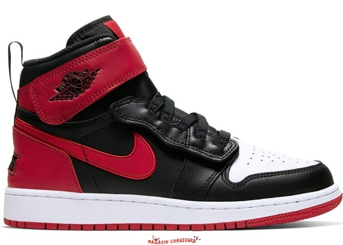 "Air Jordan 1 Flyease (GS) ""Bred White Toe"" Noir Rouge (CT4897-001) Chaussure de Basket"