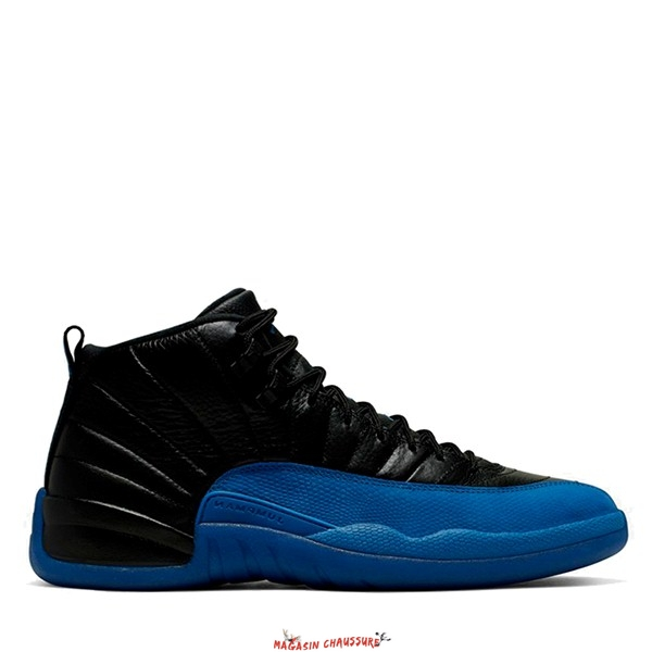 "Air Jordan 12 - Homme ""Black Game Royal"" Noir Bleu (130690-014) Chaussure de Basket"