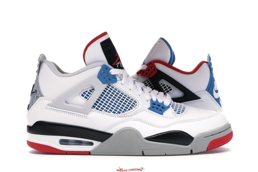 "Air Jordan 4 - Homme Retro ""What The"" Blanc (CI1184-146) Chaussure de Basket"