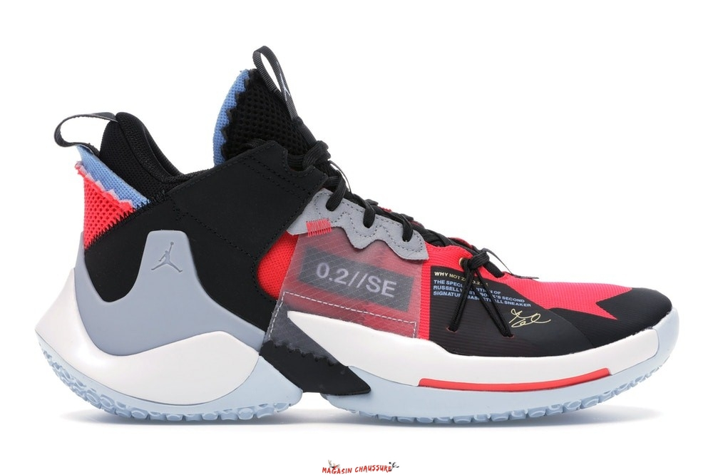"Air Jordan Why Not Zer0.2 - Homme Se ""Red Orbit"" Noir Rouge Bleu (AV4126-600/AQ3562-600) Chaussure de Basket"