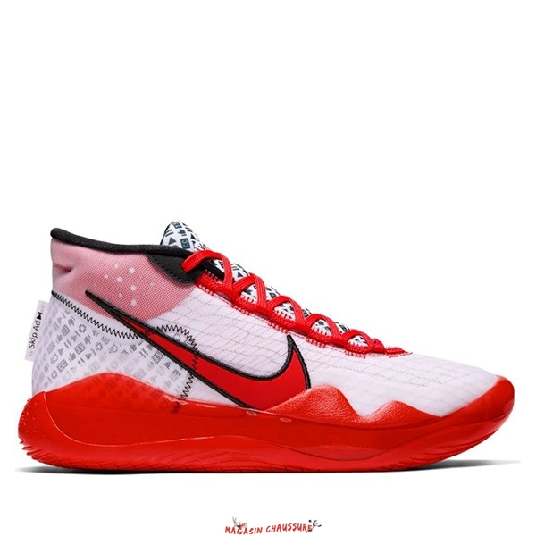 "Nike Kd XII 12 - Homme ""Youtube"" Rouge Blanc (CQ7731-900) Chaussure de Basket"