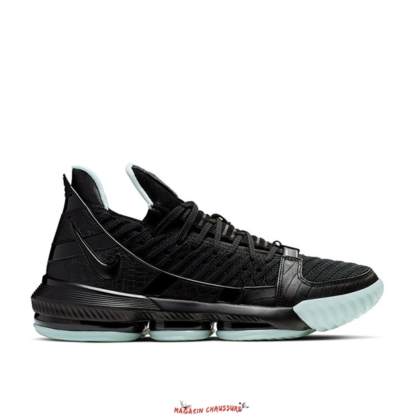 "Nike Lebron XVI 16 - Homme ""Glow In The Dark"" Noir (CD2451-001) Chaussure de Basket"