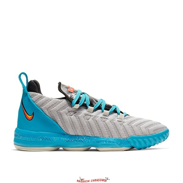 "Nike Lebron XVI 16 (PS) ""Tropical Beach"" Bleu Gris (AQ2467-076) Chaussure de Basket"