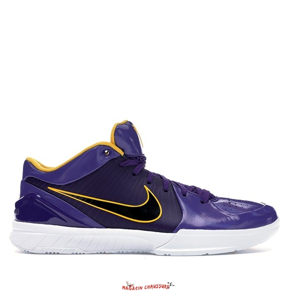 "Nike Zoom Kobe IV 4 - Homme Protro Undefeated ""Los Angeles Lakers"" Pourpre (CQ3869-500) Chaussure de Basket"