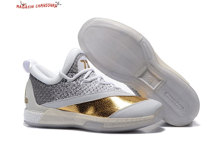 size 40 3afac 3b9b9 Adidas Crazylight James Harden - Homme Blanc Gris Or Chaussure de Basket