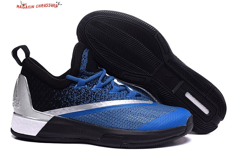 los angeles 3aa73 a5b8c Adidas Crazylight James Harden - Homme Noir Bleu Chaussure de Basket