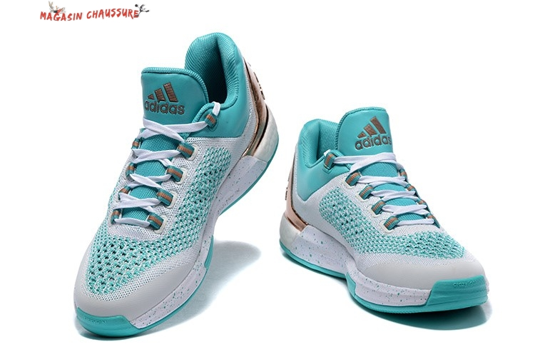 best authentic 72cb8 b720f ... Adidas Crazylight Jeremy Lin - Homme Blanc Bleu Chaussure de Basket ...