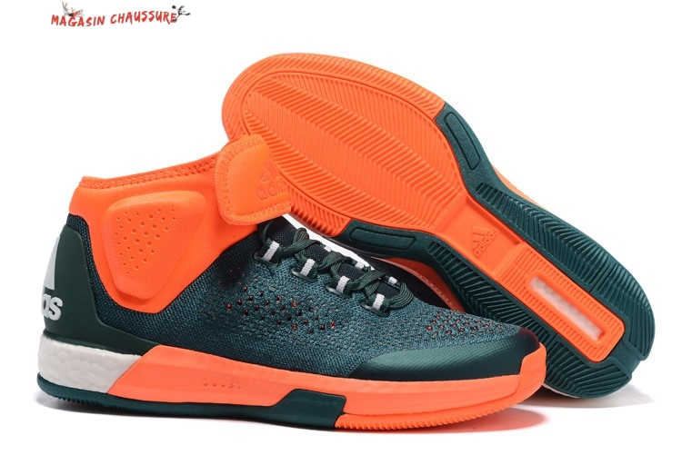Adidas Crazylight Jeremy Lin - Homme Vert Orange Chaussure de Basket