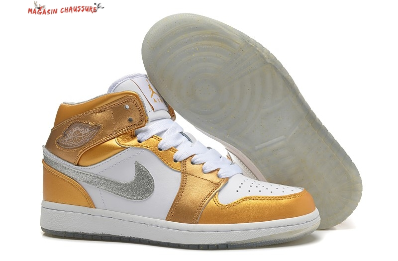 Air Jordan 1 - Femme Or Chaussure de Basket