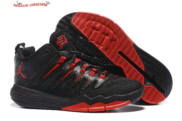 Air Jordan Chris Paul 9 - Homme Noir Rouge Chaussure de Basket