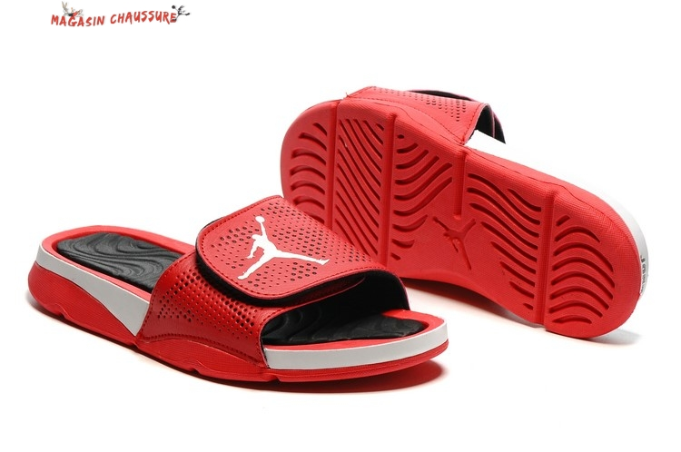 Jordan Hydro Chaussons - Homme Noir Blanc Red
