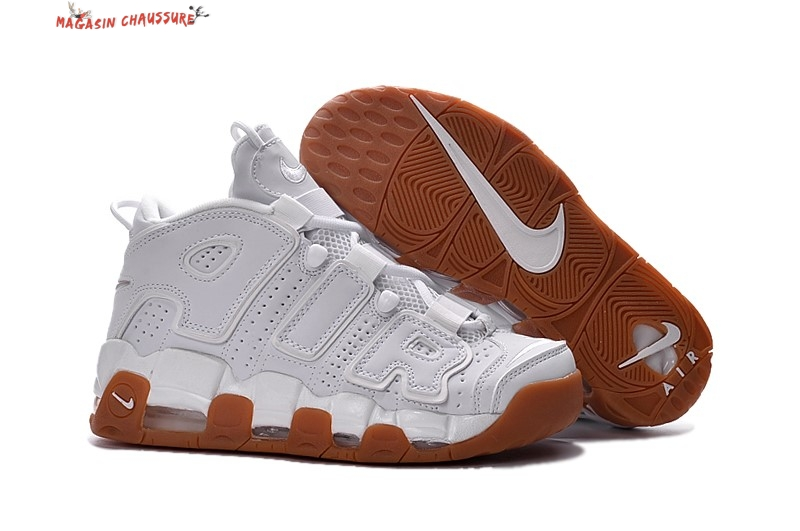 Nike Air More Uptempo - Homme Blanc Chaussure de Basket