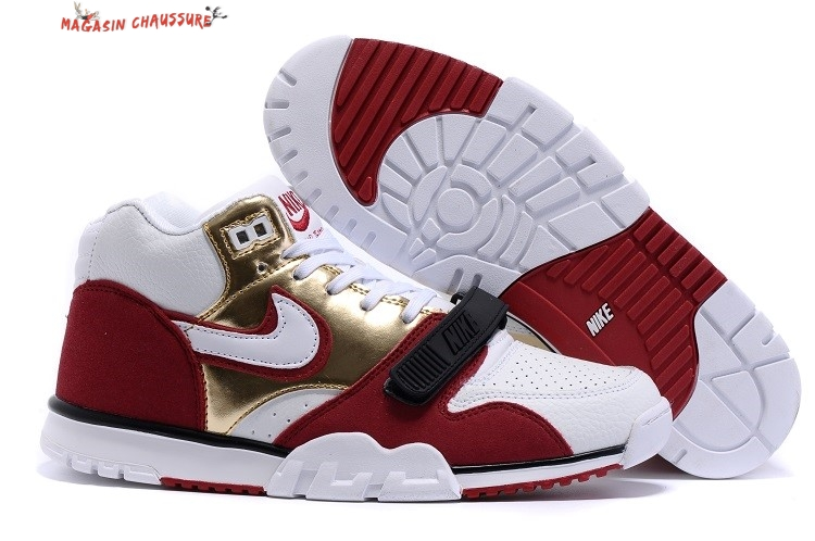 Nike Air Trainer 1 Mid - Homme Rouge Blanc Chaussure de Basket