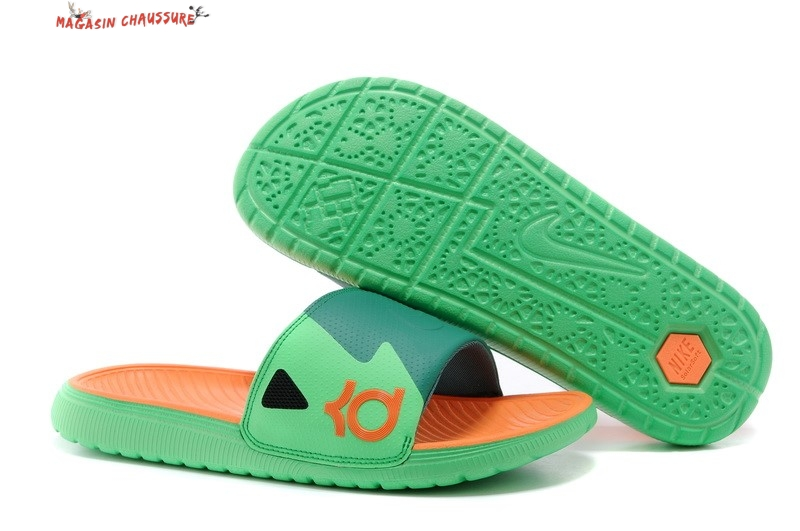 Nike KD Chaussons - Homme Vert Orange
