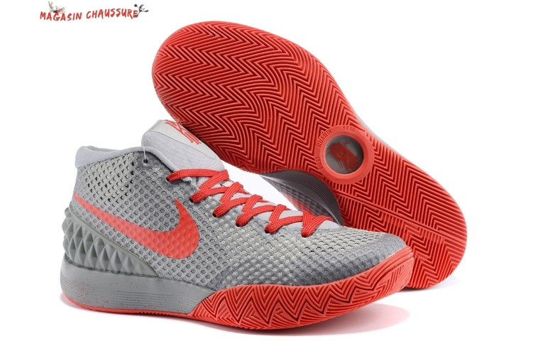 Nike Kyrie Irving 1 - Homme Gris Orange Chaussure de Basket